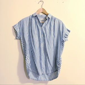 Madewell Central Shirt in Chambray Stripe